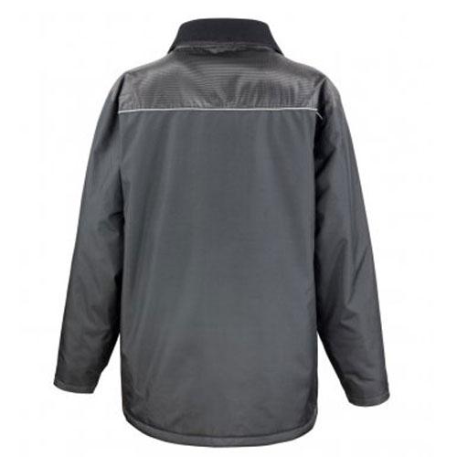 Black fisherman's coat